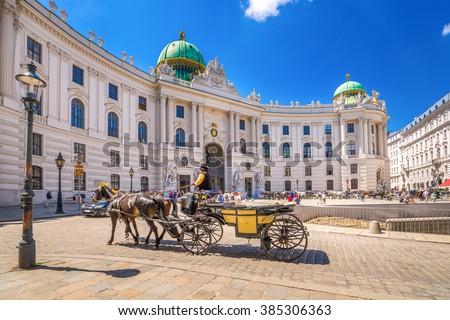 Fiacre, Hofburg, Vienna,