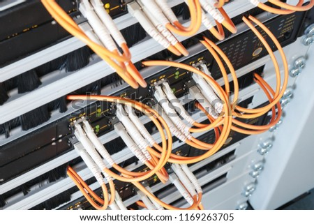 stock photo fiber optic connectors in a switch cabinet data transmission and internet connection a lot of 1169263705 free photos fiber optic connection to house avopix com
