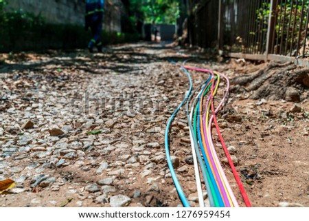 Fibre optic cables for fast internet connections in Africa #1276959454