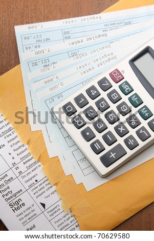 Fictitious Credit Card Application - stock photo