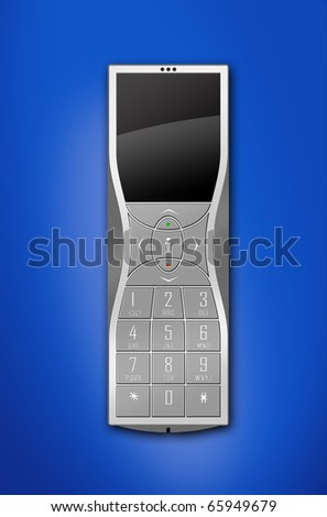 fictitious stylized DECT or mobile phone