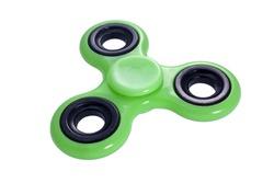 fidget spinner green isolated on white
