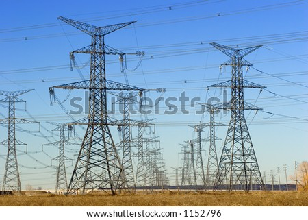 Field of electric towers