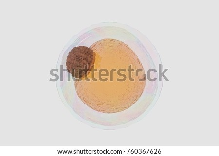 field of fat cells, High quality 3d render of fat cells, cholesterol in a cells, structure of the molecule, receptors on the cells surface  3d rendering