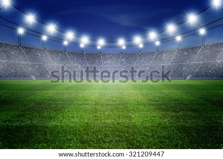 field of stadium - Shutterstock ID 321209447