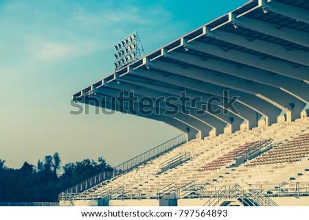 field of stadium in the rural...