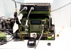 Field shortwave radio station. Resistant to electronic warfare radio network