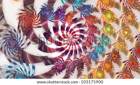 Field width abstract flower pattern for backgrounds. Fractals.