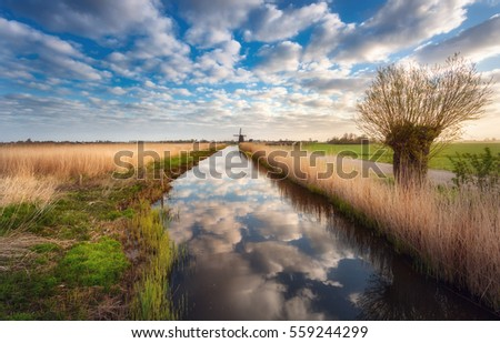 fields near the water canal at...
