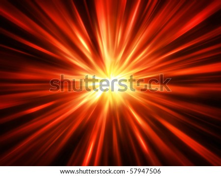 Fiery abstract blurred explosion