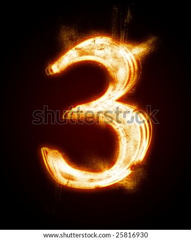 fiery font from a dust.   Look at other fire illustrations in my portfolio: font, euro, dollar...