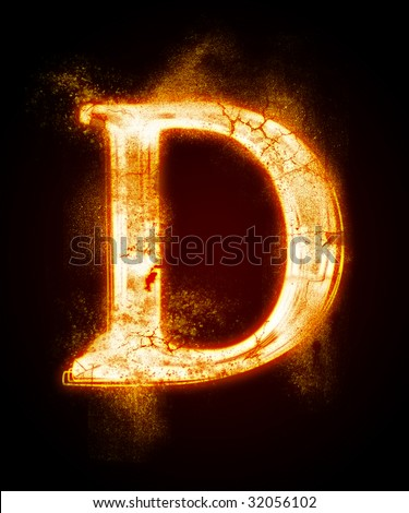 fiery font from a dust . Look at other fire illustrations in my portfolio: font, euro, dollar...