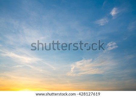 Shutterstock Fiery orange sunset sky. Beautiful sky.