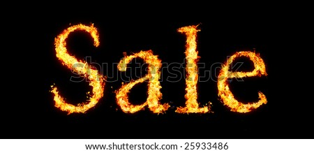 Fiery Sale tag
