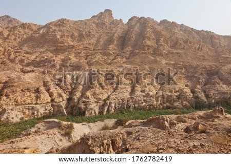 Fifa canyon in Rift valley by the Dead Sea in Jordan, the Middle East