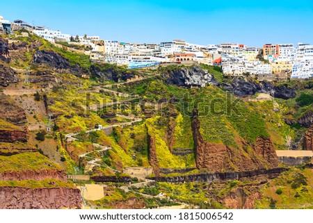 Fifa panorama in Santorini island, Greece