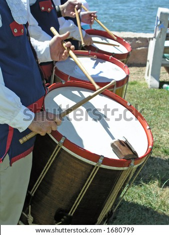 Fife and drum corps - stock photo
