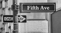 Fifth Avenue sign in New York.