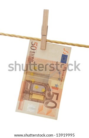 Fifty euro banknote - money laundering concept