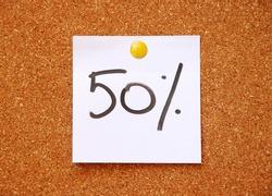 fifty percent handwritten