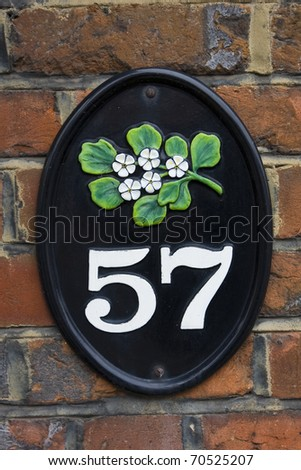 Fifty seven  house number
