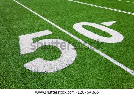 fifty yard line - football field
