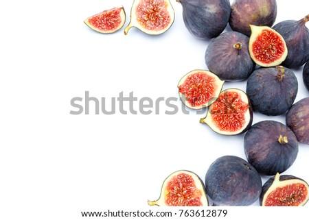 Fig isolated on white background