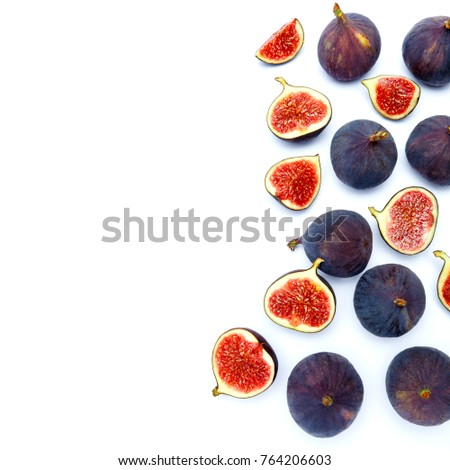 Fig isolated on white background. Clipping path