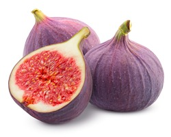 fig isolated on white background, clipping path, full depth of field