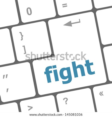 fight button on computer pc keyboard key, raster
