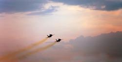 Fighter Jets Pink Sky