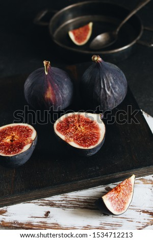 Figs fruit. Figs on a dark background. Figs in the context. #1534712213