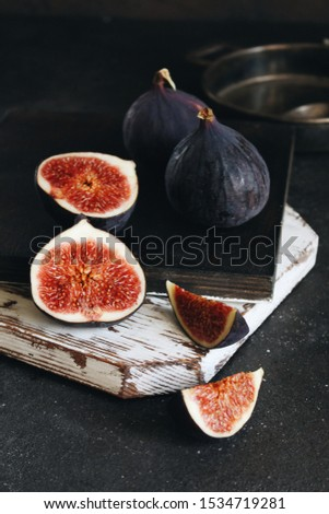 Figs fruit. Figs on a dark background. Figs in the context. #1534719281