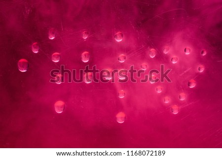figure fourteen and heart made of water droplets on a romantic pink background lovers day concept #1168072189