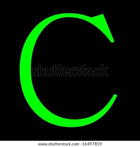 Figure, Letter C, Green Stock Photo 16497859 : Shutterstock
