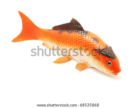 Figure of fish on a white background