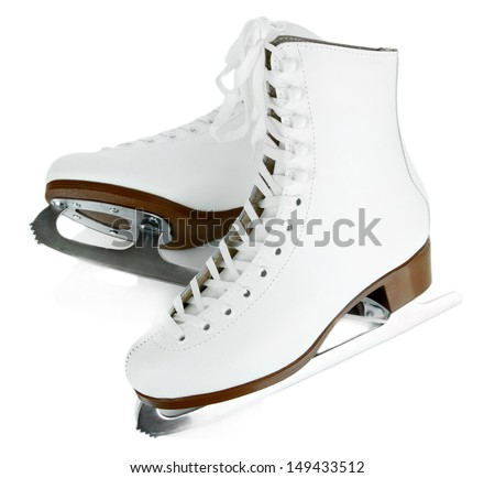 Figure skates isolated on white