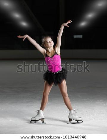 Figure skating with girl #1013440948