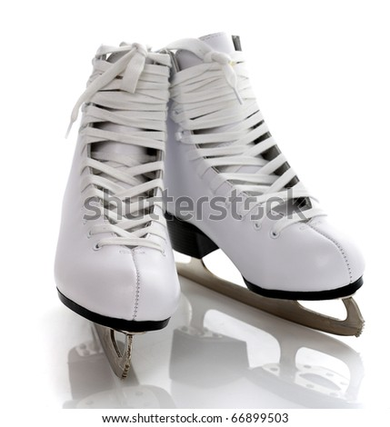 figure white skates isolated on white background