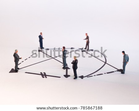 figures depicting relations between people - social behavior - group dynamics - network #785867188