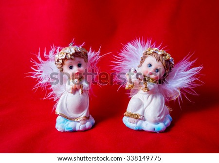 figures of angels isolated #338149775