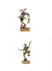 Figures of the puppeteer and the jester juggler. Puppeteer jester and juggler jester. Jester juggler and puppeteer