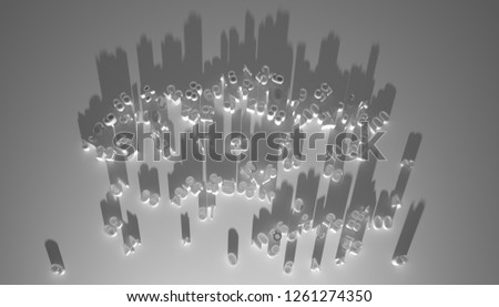 figures shadow city silhouette business and finance #1261274350