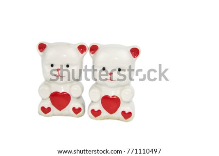 figurines porcelain bears with hearts #771110497