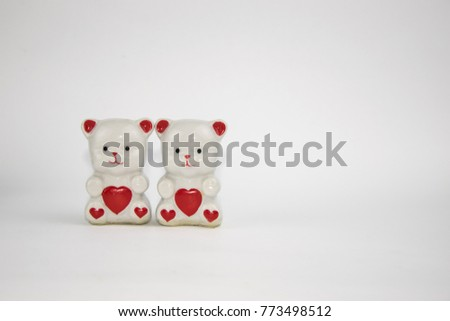 figurines porcelain bears with hearts #773498512