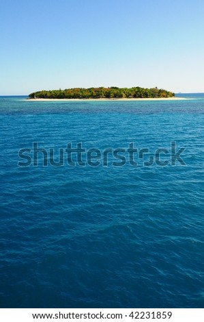 Fiji small island in the middle of the ocean
