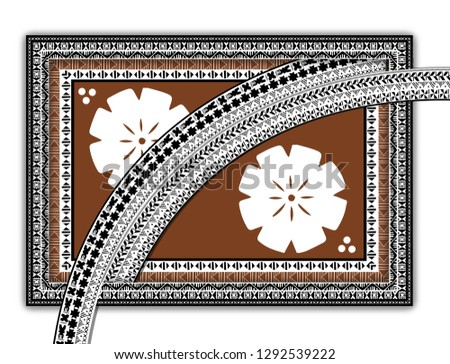 Fijian Design. Fijian Masi designs. Zdjęcia stock ©