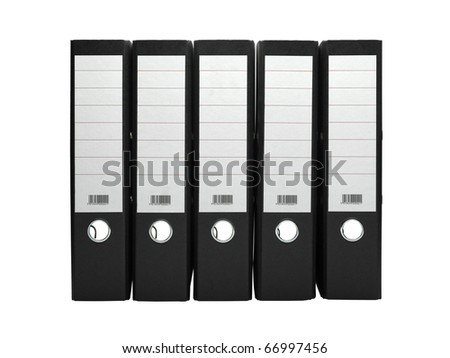 File archive on white background - stock photo