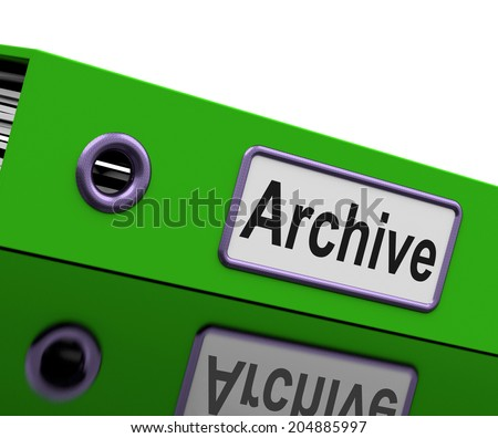 File Archive Representing Business Organization And Catalogue