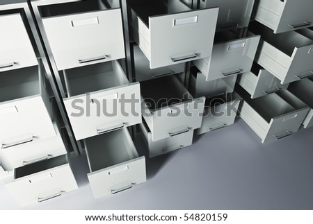 file cabinet 3d office business background